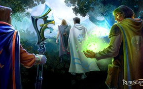 Picture people, magic, mages, Runescape