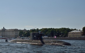 Picture submarine, diesel, Kronstadt, the project 677