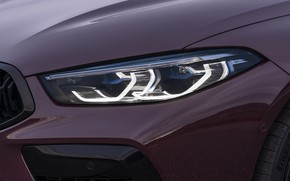 Picture coupe, headlight, BMW, 2019, M8, the four-door, M8 Gran Coupe, M8 Competition Gran Coupe, F93