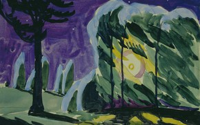 Picture 1915, Charles Ephraim Burchfield, Park Light on a Windy Night