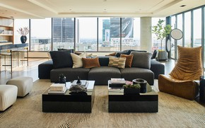 Picture interior, megapolis, living room, Hollywood Penthouse, by Smith Firestone Associates