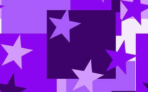 Picture background, pink, Stars, squares, Purple
