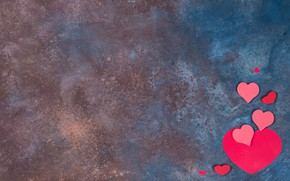 Picture background, minimalism, hearts