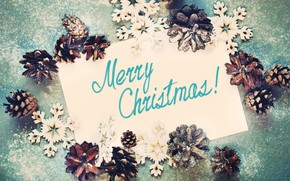 Picture holiday, the inscription, Christmas, bumps, decor, composition