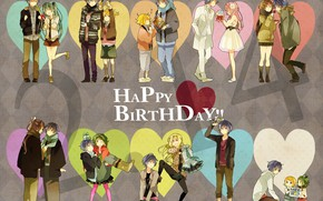 Picture girl, situation, guy, two, Vocaloid, Vocaloid, couples