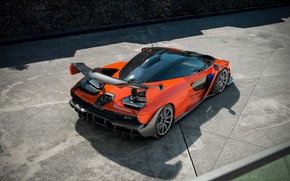 Picture McLaren, supercar, 2018, Senna, Delta Red