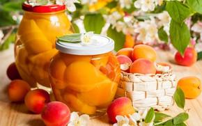 Picture banks, apricots, Jasmine
