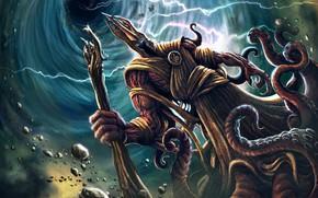 Wallpaper Monster, Zipper, The demon, Fiction, Illustration, Demon, Characters, Lovecraft, Necronomicon, Creatures, Lovecraft, Walter Brocca, by ...