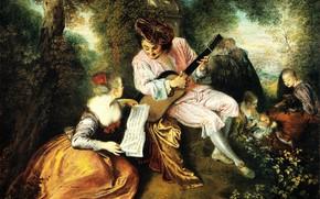 Picture music, picture, genre, Jean Antoine Watteau, Antoine Watteau, Gamma Love