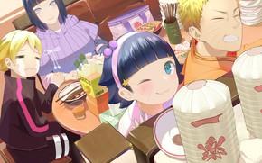 Picture family, Naruto, Hinata, Naruto Uzumaki, Boruto, Himawari, Boruto Uzumaki
