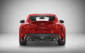 Picture Toyota, rear view, Supra, 2019, Toyota GR Above, GR Above