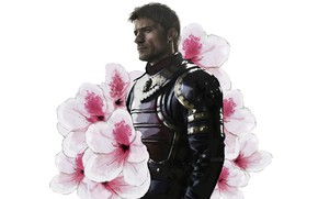 Picture flowers, soldiers, male