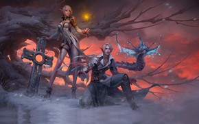 Picture fantasy, art, Xiaoyu Wang, for a game_longlongago