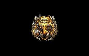 Picture Fantasy, Art, Tiger, Vector, Background, Illustration, Minimalism, Robotic, Angga Tantama, Digitalized Tiger
