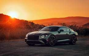 Picture sunset, Bentley, Continental GT, V8, 2019