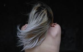 Picture girl, hair, back, Sergey Papirenko
