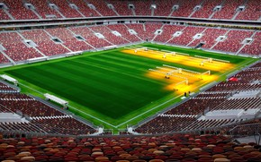 Wallpaper Field, Sport, Football, Russia, Stadium, Luzhniki, Stadium, Lawn, Tribune, Luzhniki, Luzhniki Stadium, The Main Stadium, ...