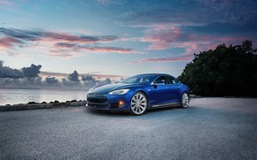 Picture electric car, model s, tesla