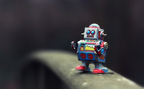 Picture toy, robot, bokeh