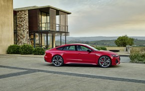 Picture Audi, side view, Sportback, RS 7, RS7, 2020