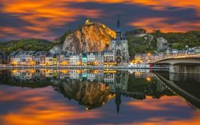 Picture the sky, sunset, bridge, the evening, channel, Belgium, Gürcan Akdogan