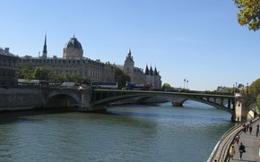 Picture river, France, Paris, home, Hay, the bridge to Notre Dame