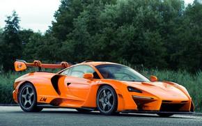 Picture orange, McLaren, hypercar, Senna, MSO, 2020, Senna LM