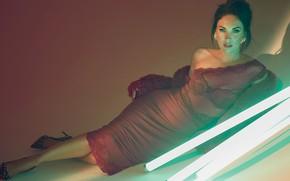 Picture look, girl, sexy, pose, Megan Fox, dress, actress, beauty
