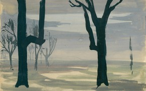 Picture Untitled, Charles Ephraim Burchfield, Study for Evening Star 02
