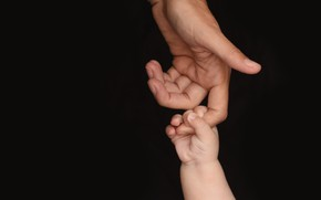Picture children, hand, family, fingers