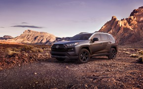 Picture machine, mountains, Toyota, crossover, TRD, Off Road, RAV4, USA version