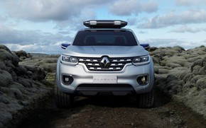 Picture silver, Renault, pickup, the front, primer, 2015, Alaskan Concept