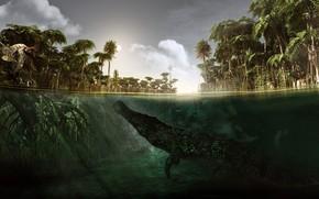 Picture Underwater, Alessandro Mastronard, Sarcosuchus, Sarcosuchus, Microraptor, Microraptor, an extinct genus of giant crocodylomorphs, a genus …