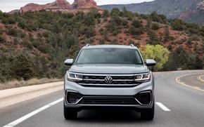 Picture Volkswagen, front, SUV, Atlas, 2020, gray-silver