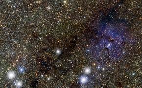 Picture Nebula, Constellation of Sagittarius, The Trifid Nebula, VISTA VVV survey, M 20, Messier 20, Cepheid …