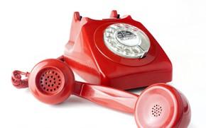 Picture macro, retro, tube, phone, rotary phone