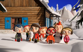 Picture winter, snow, children, cartoon, cartoon, My Life of Courgette, My life as a Zucchini, Life …