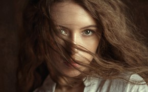 Picture girl, green eyes, photo, model, lips, brunette, portrait, mouth, close up, looking at camera, looking …