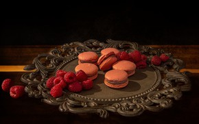 Picture berries, raspberry, cookies, macaron