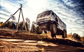Picture Sport, Machine, Speed, Jump, Truck, Race, Master, Russia, Kamaz, Rally, Dakar, KAMAZ-master, Dakar, Rally, KAMAZ, …