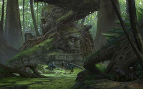 Picture dinosaurs, Klaus Pillon, neojidannaya meeting, Unexpected Meeting