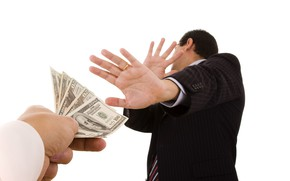 Picture money, the situation, hands, costume, white background, male, dollars, jacket, gesture, bills, bribe