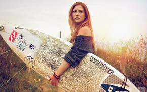 Picture grass, look, the fence, Board, Surf Spirit