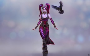 Picture Girl, Raven, Art, Morrigan, Twisted Metal, Andy Timm, SMITE, by Andy Timm, Twisted Metal Morrigan …