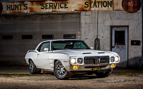 Picture Muscle, Car, Pontiac, White, Firebird, Pontiac Firebird