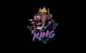 Picture Minimalism, Cat, Style, Leo, Background, King, King, Art, Art, Style, Cat, Lion, Background, Roar, Illustration, …