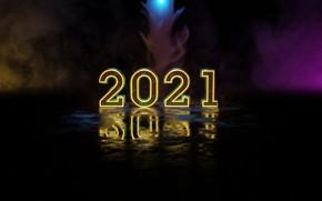 Picture light, fog, reflection, smoke, New year, 2021, Новыйгод2021