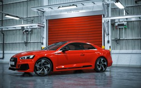 Picture Audi, Red, Auto, Machine, Car, Auto, Render, RS5, Rendering, Audi RS5, Transport & Vehicles, by …