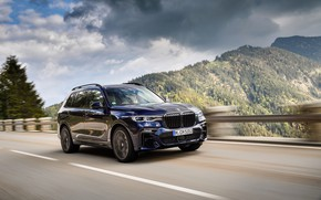 Picture BMW, the fence, crossover, SUV, 2020, BMW X7, M50i, X7, G07
