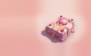 Picture rendering, art, sweets, book, fun, yummy, Julia Belyakova